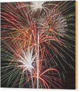 Fireworks Light Up The Night Wood Print by Garry Gay