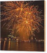 Fireworks London Wood Print