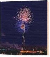 Fireworks Wood Print by Elijah Weber