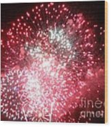 Fireworks Number 7 Wood Print