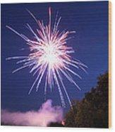Fireworks One Wood Print