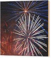 Fireworks Rectangle Wood Print