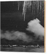 Fireworks Tahoe Ca Wood Print