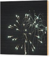 Fireworks With Moon II Fm2p Wood Print
