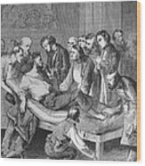 First Administration Of Ether Wood Print