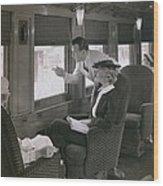 First Class Passengers In An Wood Print