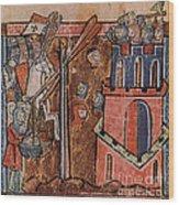 First Crusade Germ Warfare Siege Wood Print