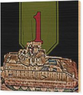 First Infantry Division Bradley Fighting Vehicle Wood Print
