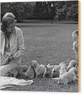 First Lady Betty Ford And The Familys Wood Print