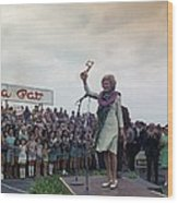First Lady Campaigning In Hawaii. A Wood Print by Everett