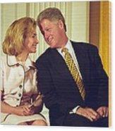 First Lady Hillary Clinton Wood Print by Everett