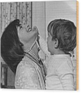 First Lady Jacqueline Kennedy Laughs Wood Print