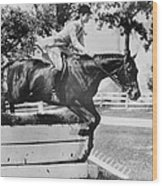 First Lady Jacqueline Kennedy, Riding Wood Print