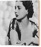 First Lady, Kay Francis, 1937 Wood Print