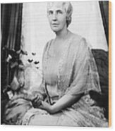 First Lady Lou Henry Hoover 1874-1944 Wood Print by Everett