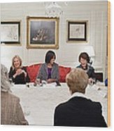 First Lady Michelle Obama And Dr. Jill Wood Print by Everett