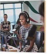 First Lady Michelle Obama Does An Wood Print by Everett