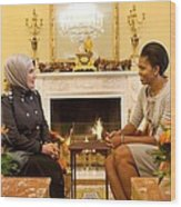 First Lady Michelle Obama Meets Wood Print