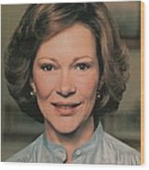 First Lady Rosalynn Carter Wood Print by Everett