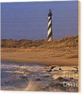 First Light At Cape Hatteras - Fs000257 Wood Print