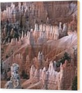 First Light In Bryce Canyon Wood Print