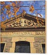 First National Bank Wood Print