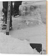 First Shovel Wood Print