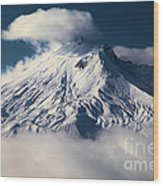 First Snow At Mt St Helens Wood Print