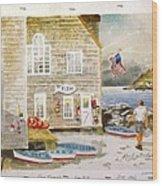 Fish Beach II Log#1517 Wood Print