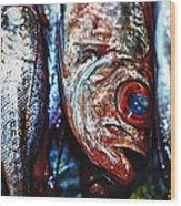 Fresh Fish At The Market Wood Print