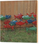 Fish From Cars Wood Print by Ben Dye