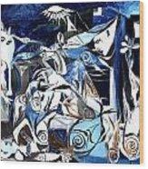 Fish Guernica Wood Print