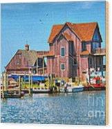 Fish House On The Island Wood Print
