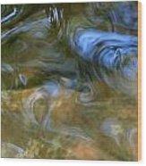 Fish In Rippling Water Wood Print