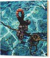 Fish Knot Santorini Greece Wood Print