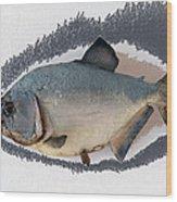 Fish Mount Set 04 C Wood Print