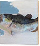 Fish Mount Set 07 C Wood Print