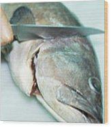 Fish Preparation Wood Print