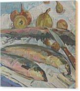 Fish Soup Wood Print by Juliya Zhukova