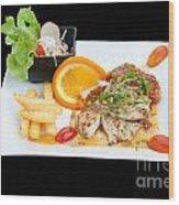 Fish Steak Wood Print by Atiketta Sangasaeng