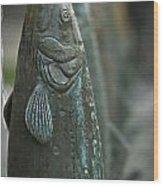 Fish Up Wood Print by David Taylor