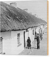 Fishermans Cottages In Claddagh Ireland Wood Print