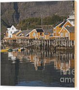 Fishermen's Village Sakrisoy  Wood Print