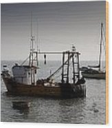 Fishing Boat Essex Wood Print