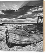 Fishing Boat Graveyard Wood Print