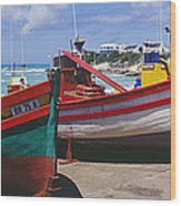 Fishing Boats At Arniston Wood Print