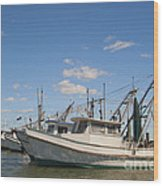 Fishing Boats At The Gulf Of Mexico Wood Print