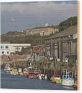 Fishing Boats Hayle Harbour Wood Print