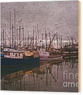 Fishing Boats Of Steveston-ca Wood Print