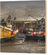 Fishing Boats On The Cobb Wood Print